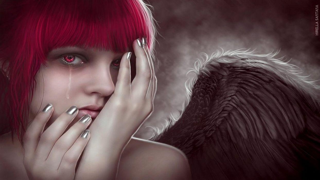 CRYING ANGEL - fantasy tears art wallpaper