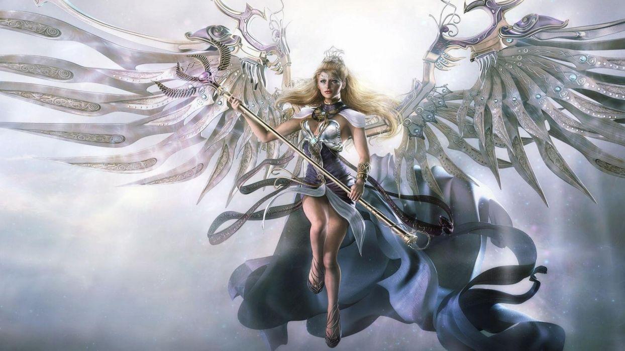 CRYSTAL ANGEL - fantasy art girl wallpaper