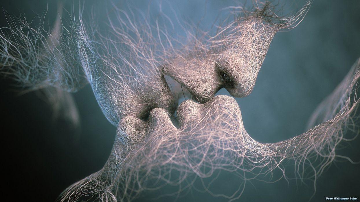 LAST KISS - 3D abstract art wallpaper