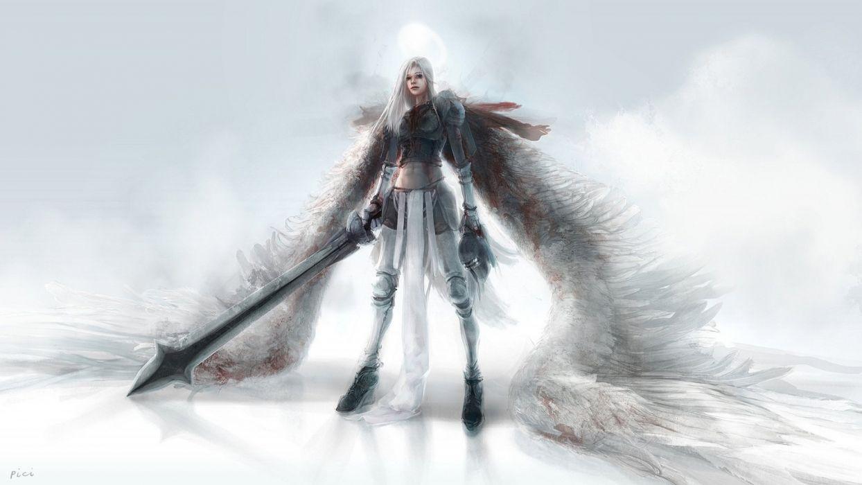 LEAGUE OF LEGENDS - angel warrior sword wallpaper