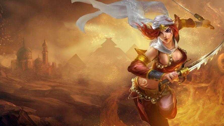 LEAGUE OF LEGENDS - sword warrior girl wallpaper
