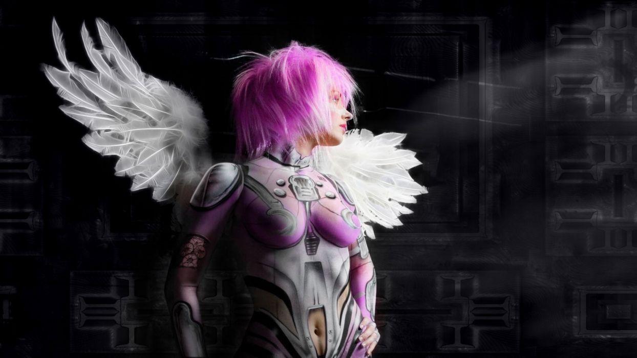 PINK ANGEL - fantasy girl art wallpaper