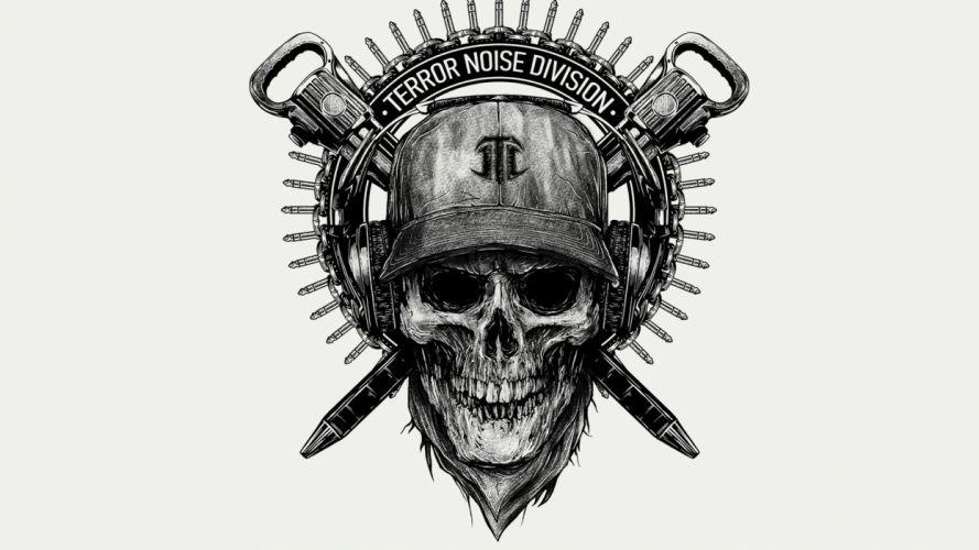 TERROR NOISE DIVISION - skull helmet wallpaper