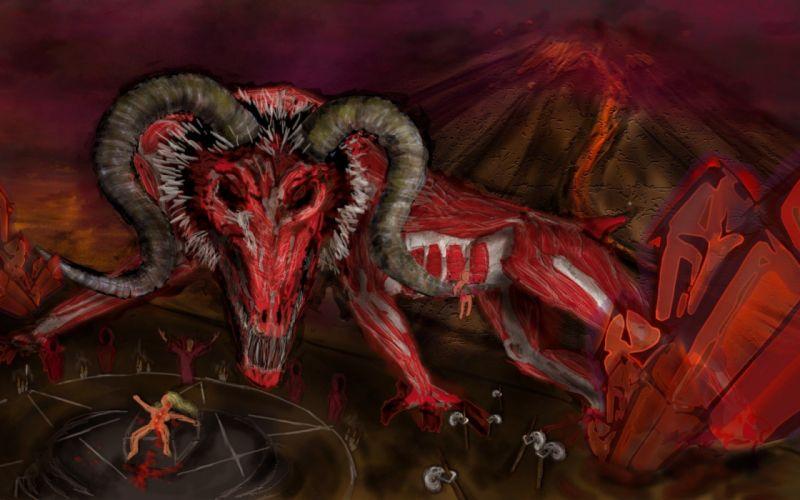 satanic occult evil dark demon satan wallpaper