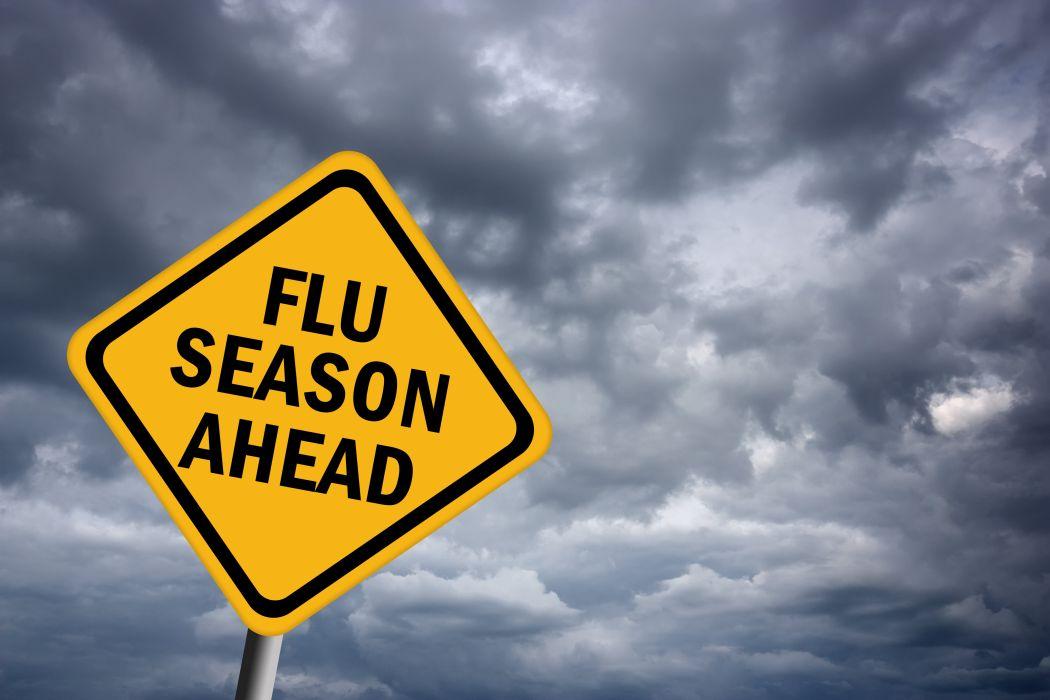 FLU virus medical disease signh wallpaper