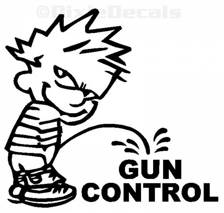 GUN CONTROL weapon politics anarchy protest political weapons guns sadic calvin hobbes wallpaper