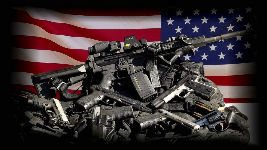 GUN CONTROL weapon politics anarchy protest political weapons guns usa milityary flag wallpaper