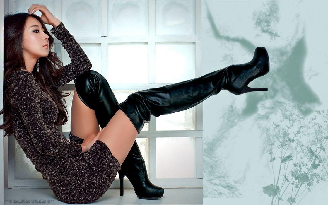 legs asian girl model sexy dress woman wallpaper