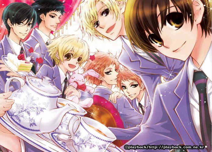 anime series boys cool ouran host club girl bunny tea wallpaper
