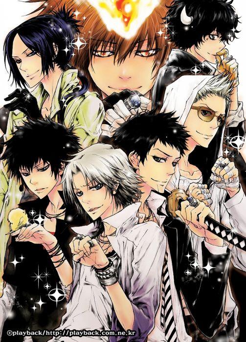 anime series cool boys black hair short sword warrior stars wallpaper