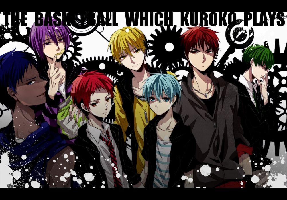 anime series kuroko no basket cool boys group wallpaper