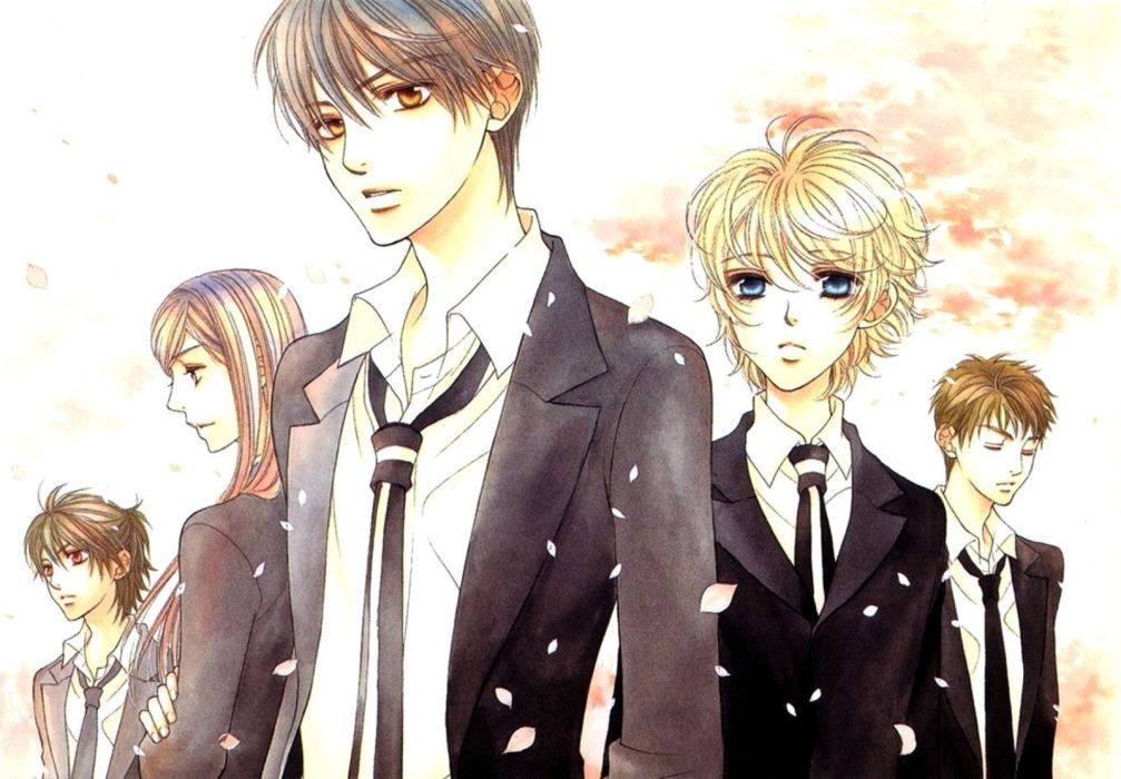 La Corda Doro la corda doro anime series character group boys cool flower petals wallpaper