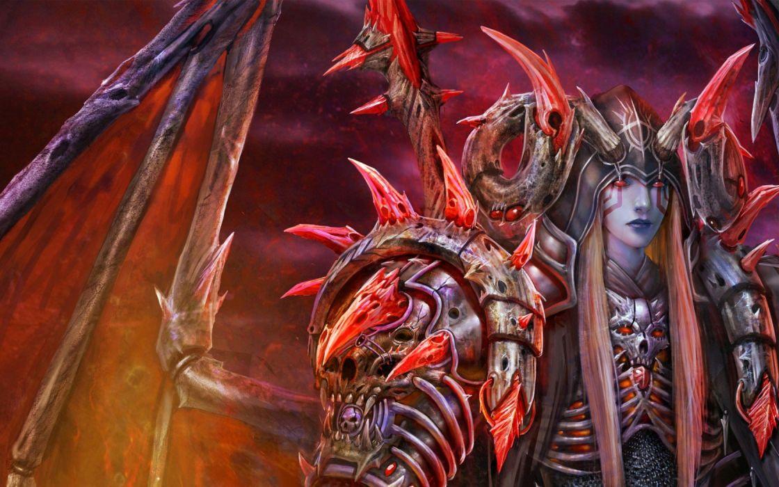 Art daemon guy wings Horn tattoo wallpaper