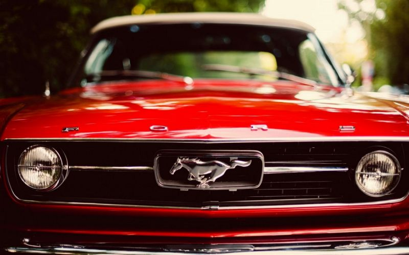 Ford Mustang red car wallpaper
