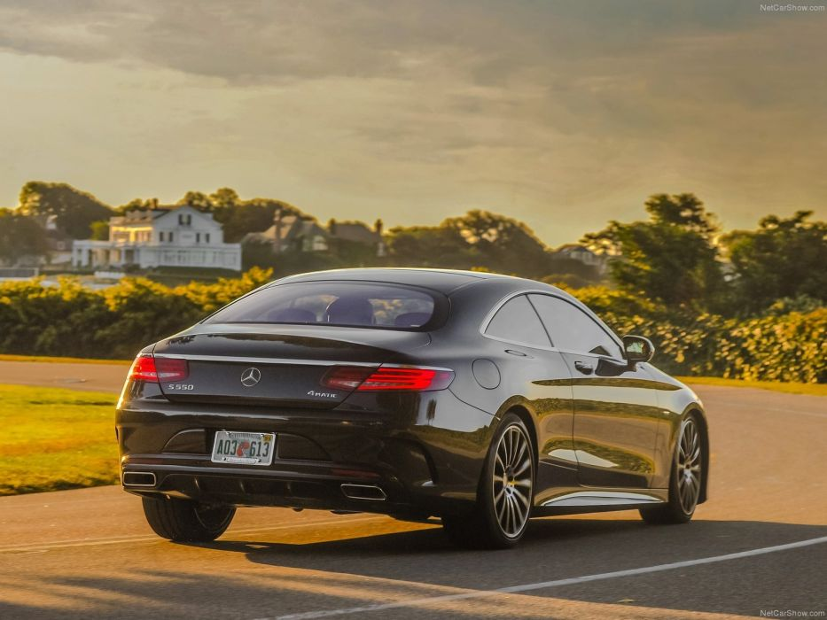 Mercedes S550 Coupe 2015 black cars germany wallpaper