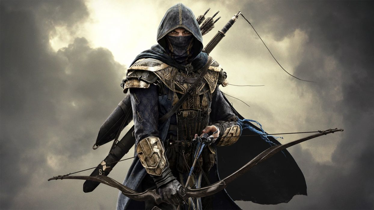 CLOUDS hood Sword Midnight sword killer armor Boom sky onions Assassin mask warrior wallpaper