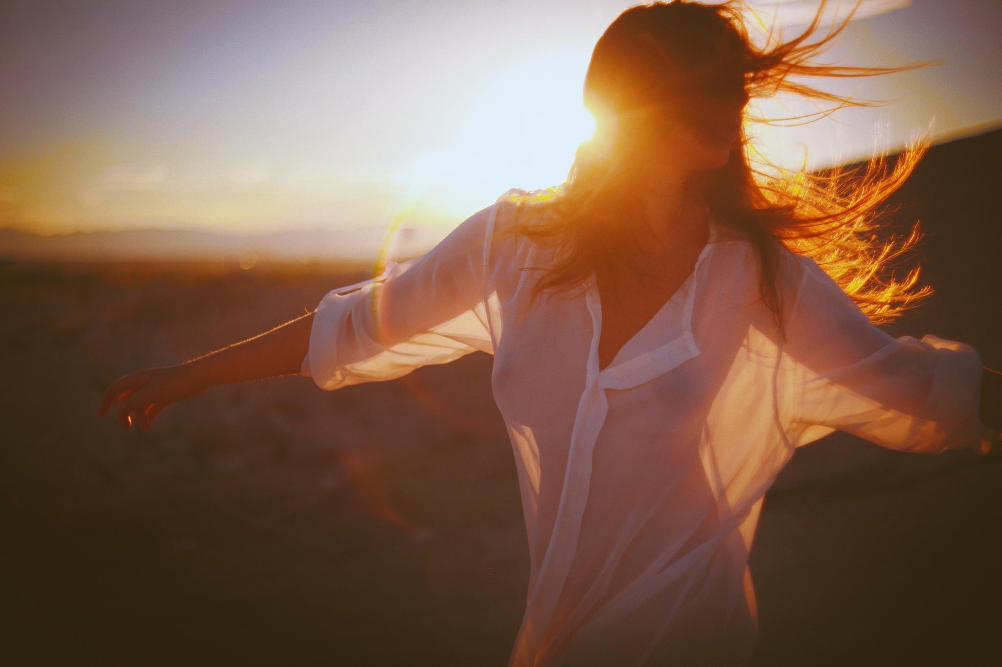 girl summer hair time sunset sunshine wallpaper | 2048x1365 | 487748
