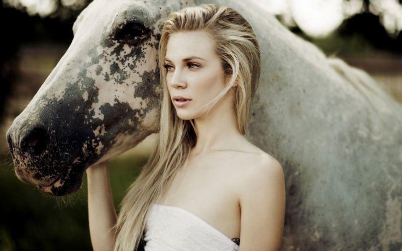 horse girl friends blonde amazing beautiful blue eyes wallpaper