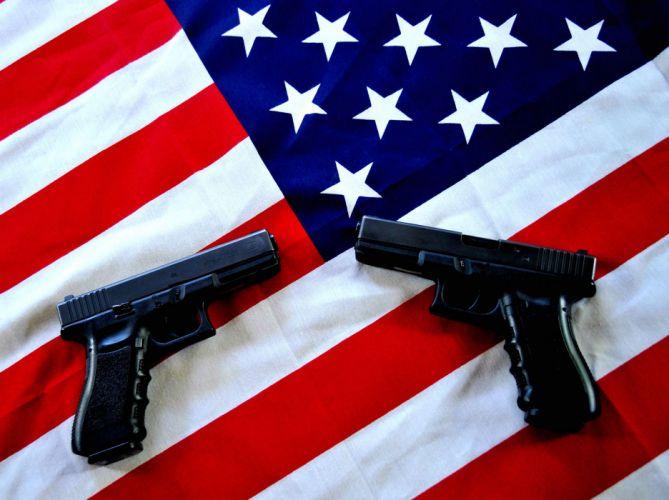 GUN CONTROL weapon politics anarchy protest political weapons guns pistol usa flag wallpaper