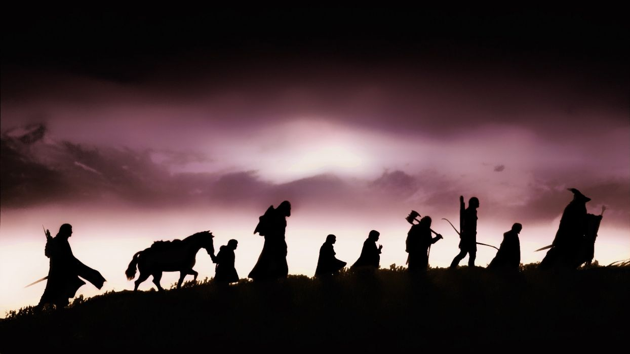 Lord Of The Rings Fellowship Of The Ring Silhouettes Group Friend