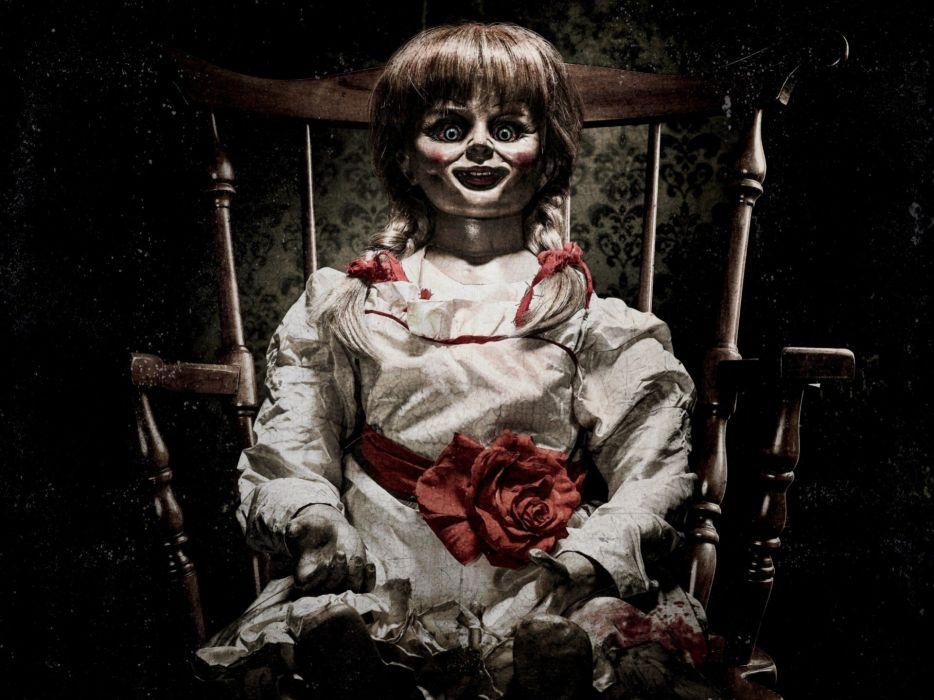 ANNABELLE horror dark supernatural wallpaper