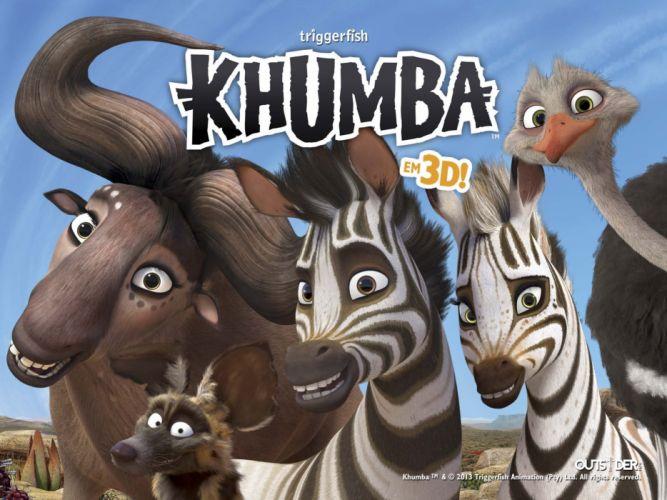 KHUMBA animation adventure family cartoon zebra wallpaper