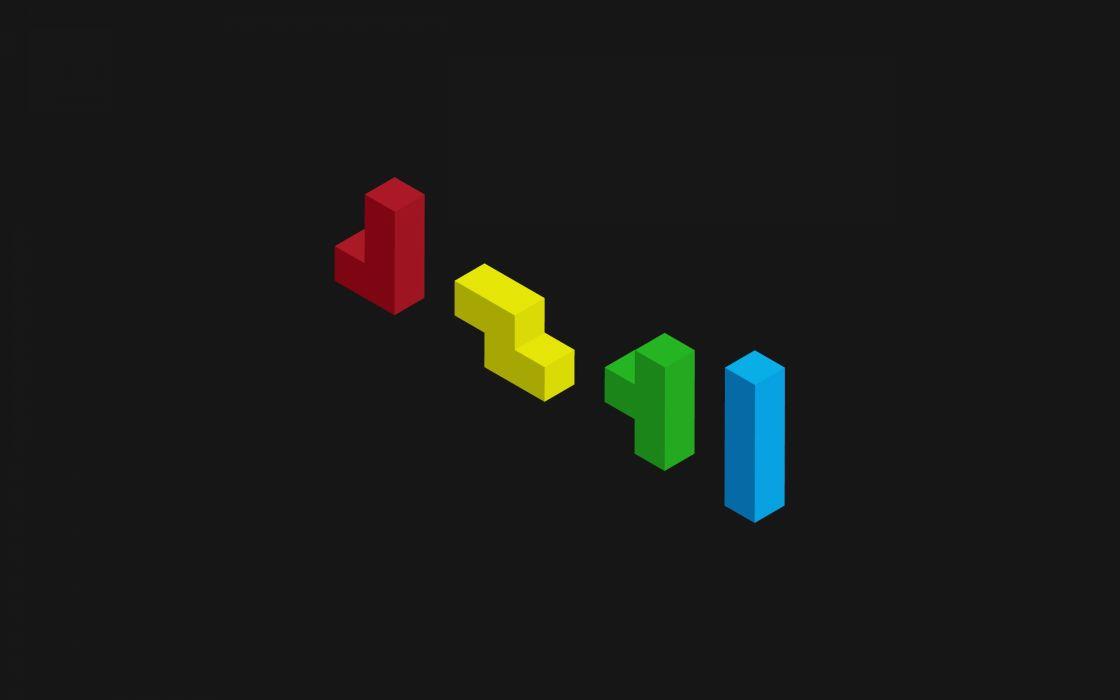 minimalist tetris game videogames wallpaper