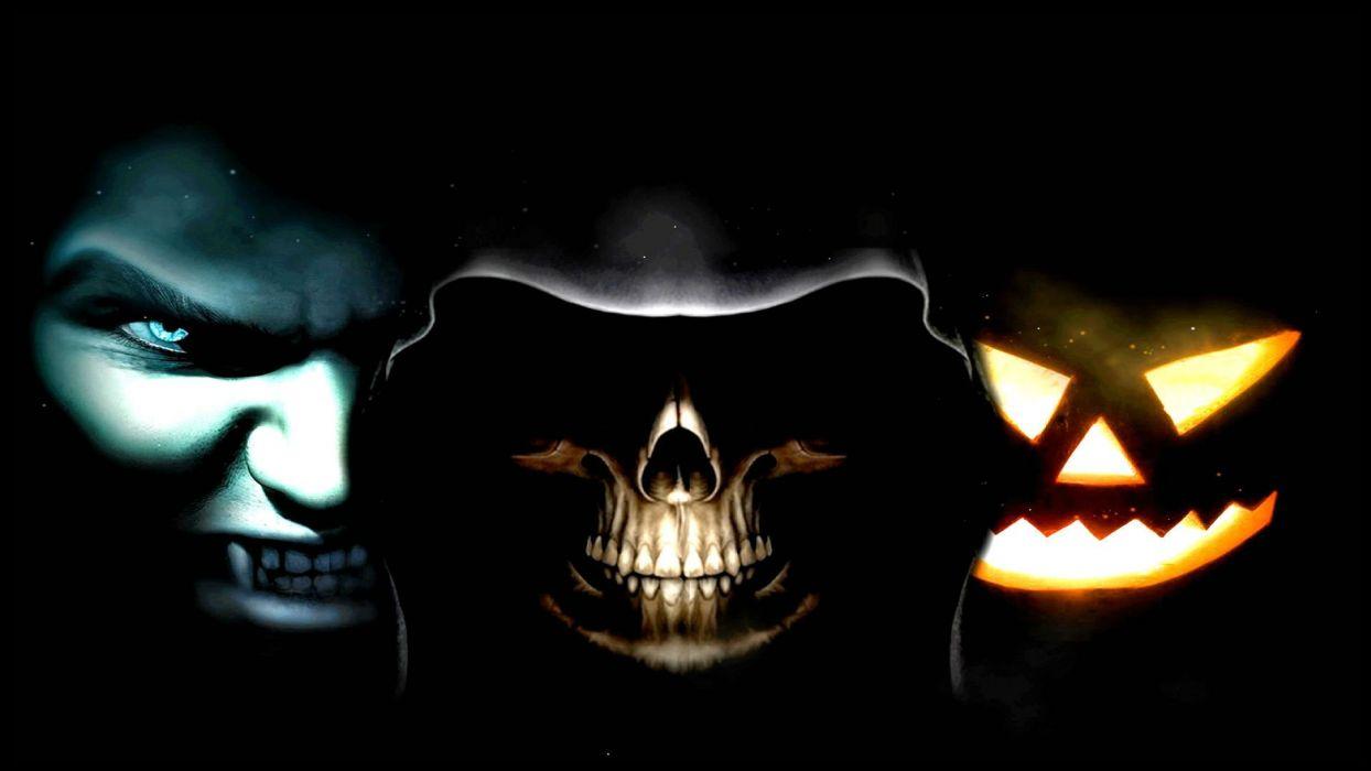 HALLOWEEN dark skull reaper wallpaper