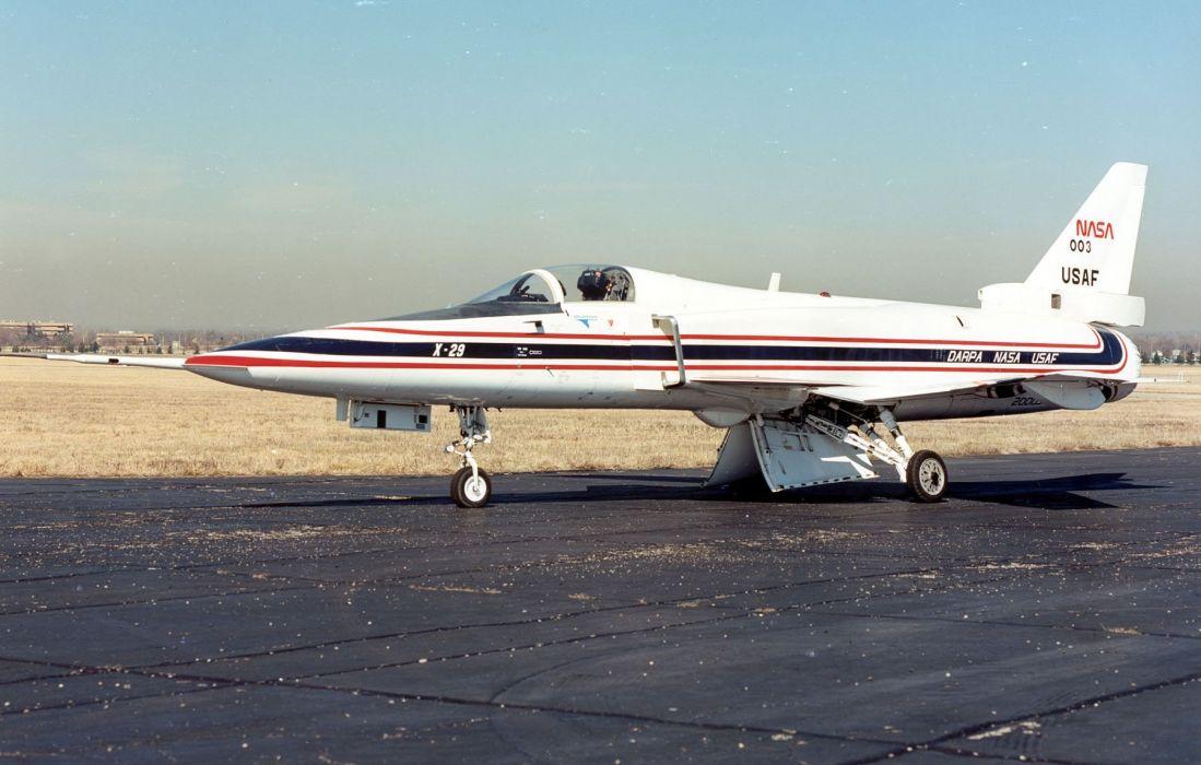 aircrafts Grumman X-29 experimental jets plane wallpaper