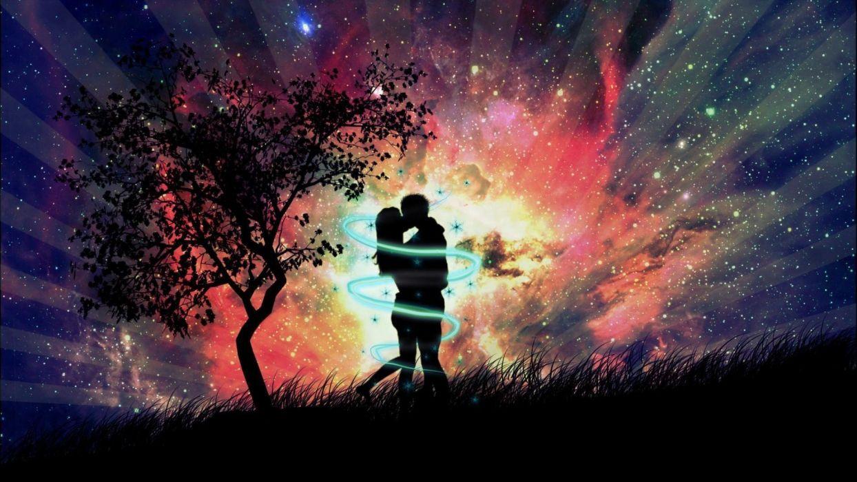 beautiful love couple at-dark-night-pic wallpaper | 1920x1080