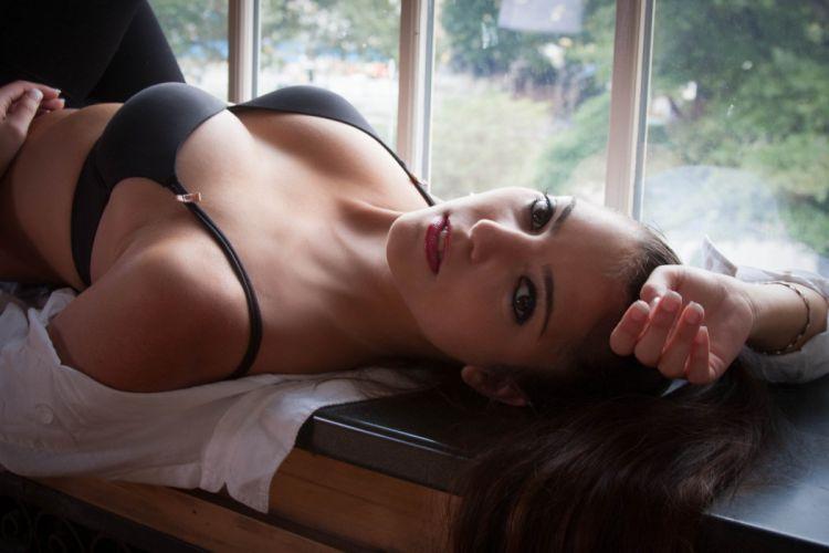 model women lingerie wallpaper