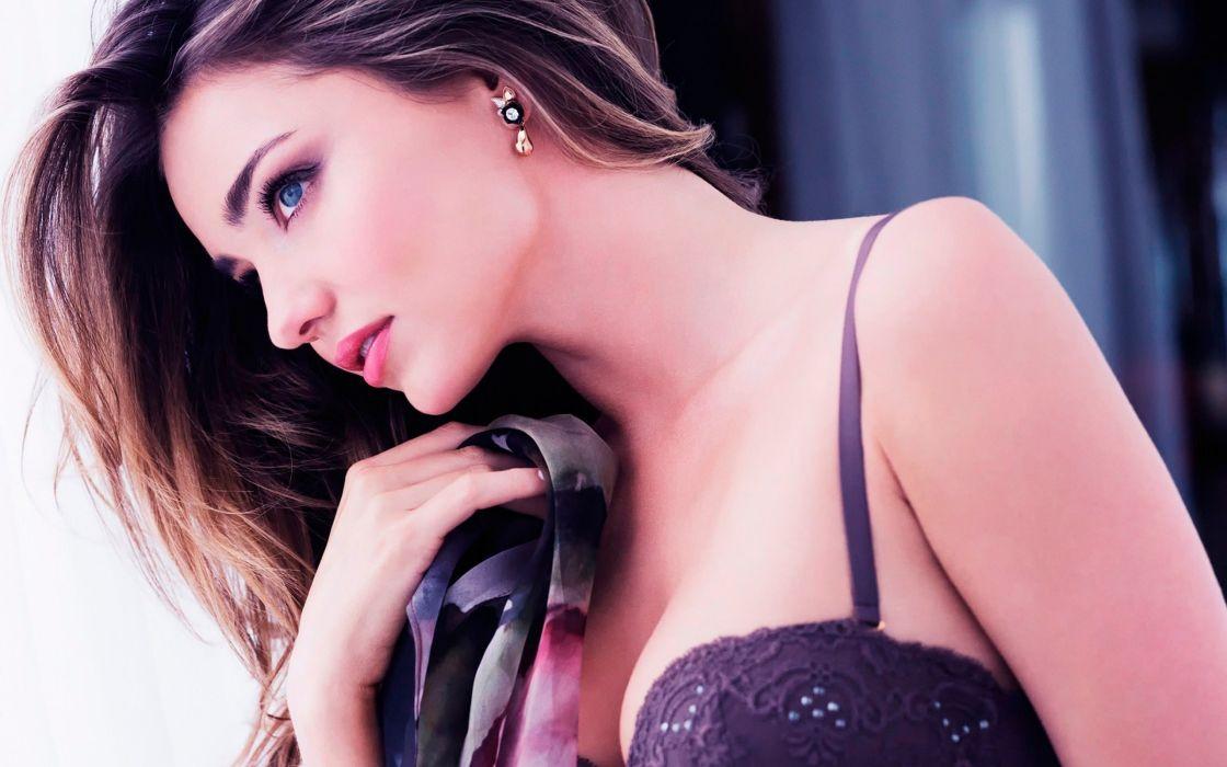 face gorgeous Miranda kerr profile eyes wallpaper