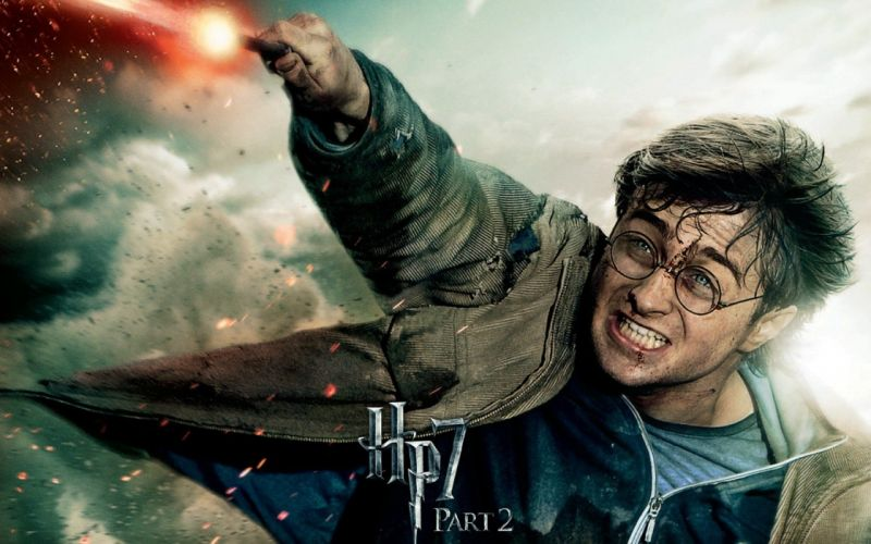 harry potter Deathly Hallows wand magic teeth blood wounds battle anger hatred glasses strike wizard wallpaper