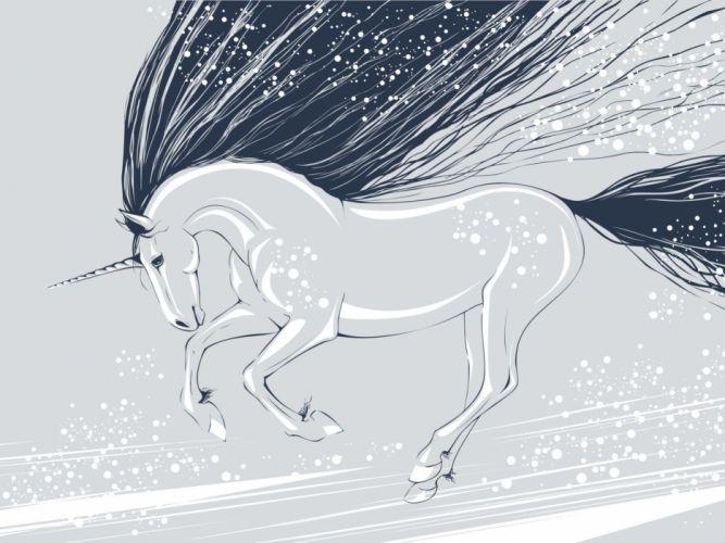 unicorn vector mane wallpaper
