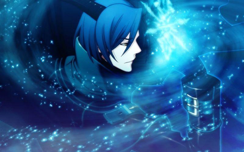 guy magic Horn blue hair short hair light wallpaper