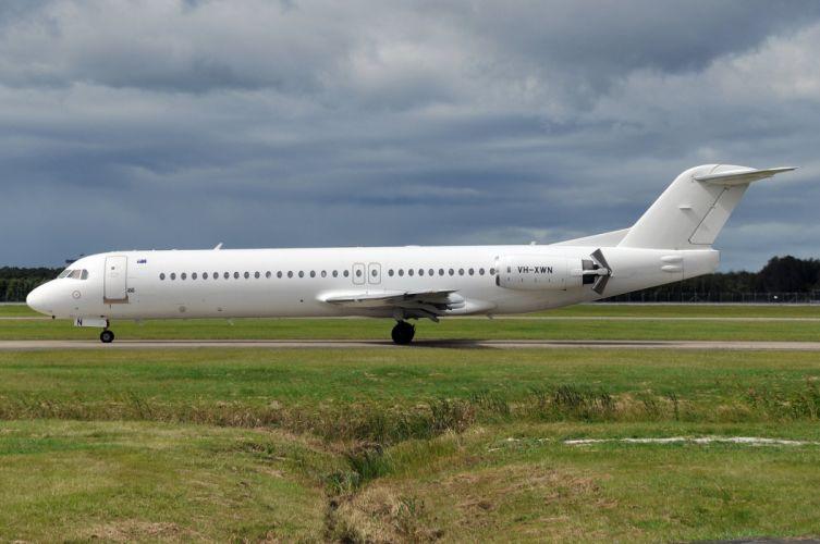 aircrafts airliner airplane fokker-100 plane transport wallpaper