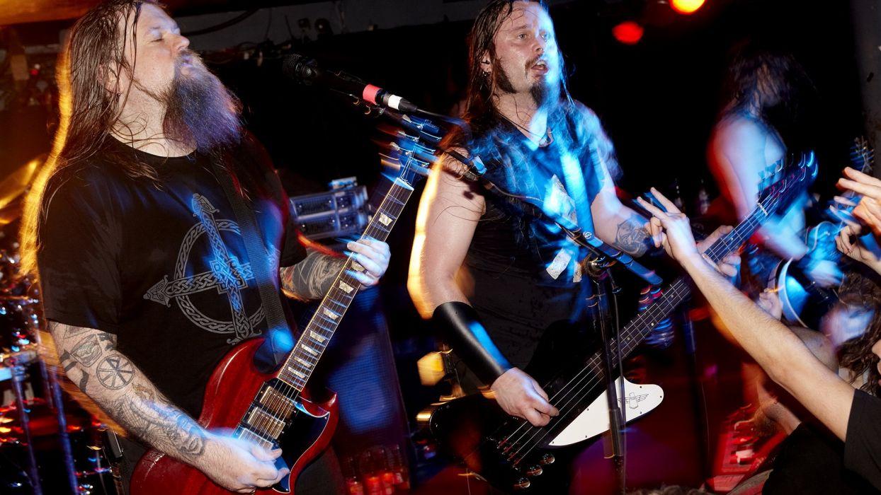 ENSLAVED progressive black metal heavy viking guitar concert wallpaper