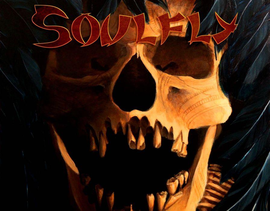 SOULFLY groove metal thrash heavy death dark skull wallpaper