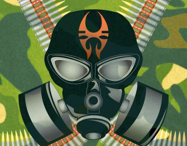 SOULFLY groove metal thrash heavy death dark gas mask apocalyptic wallpaper