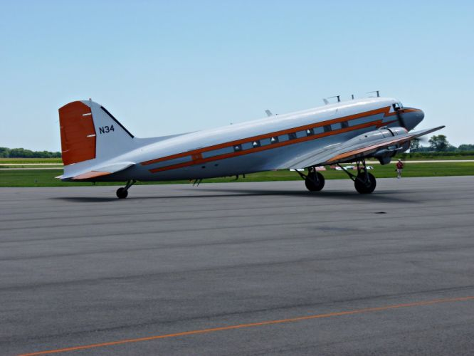 aircrafts airliner airplane army douglas DC-3 plane USA transport wallpaper