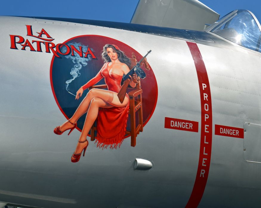 Nose Art aircrafts plane fighter pin-up wallpaper