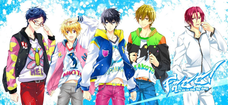 anime series free group guys cute rei makoto haruka nagis wallpaper