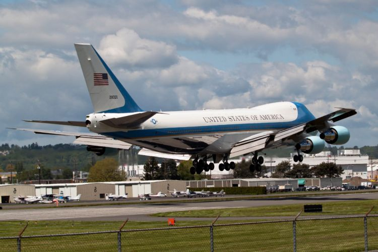 747 air-force-one aircrafts airliner airplane Boeing plane transport USA wallpaper
