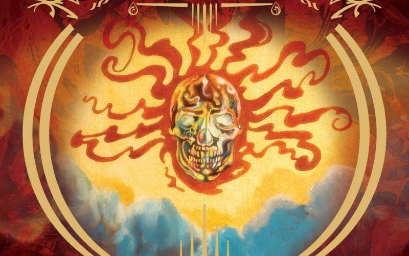 MASTODON sludge metal progressive heavy fantasy dark psychedelic skull wallpaper