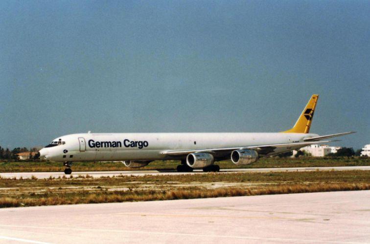 aircrafts airliner airplane Douglas DC-8 cargo plane transport USA wallpaper
