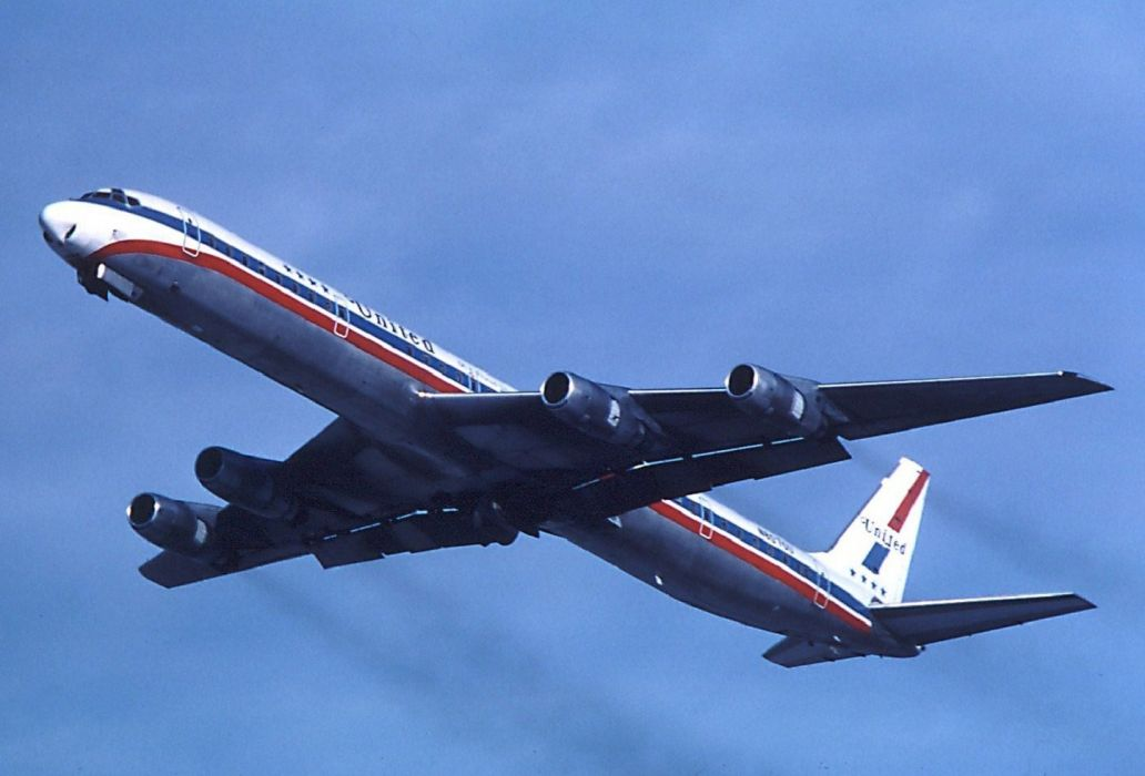 aircrafts airliner airplane Douglas DC-8 cargo plane transport USA wallpaper