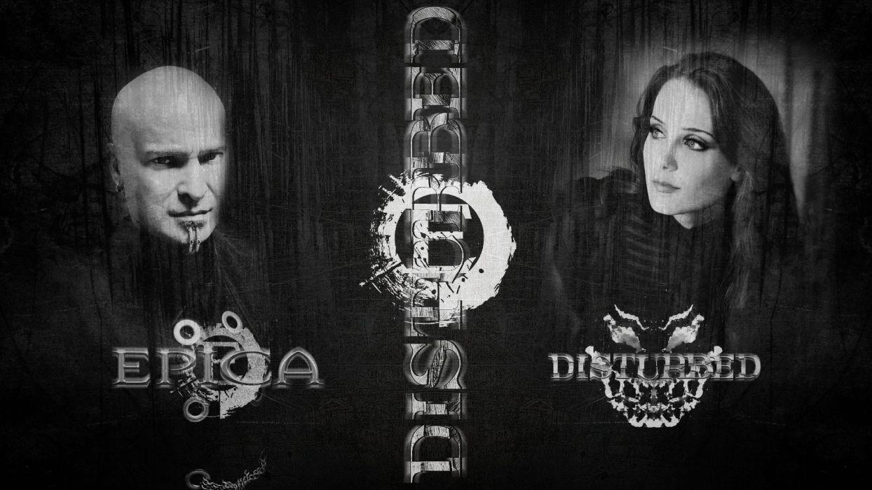 DISTURBED heavy metal alternative metal hard rock nu-metal epica wallpaper