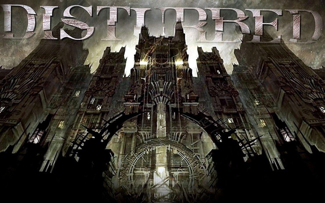DISTURBED Heavy Metal Alternative Hard Rock Nu Gothic Church Dark Cathedral Wallpaper