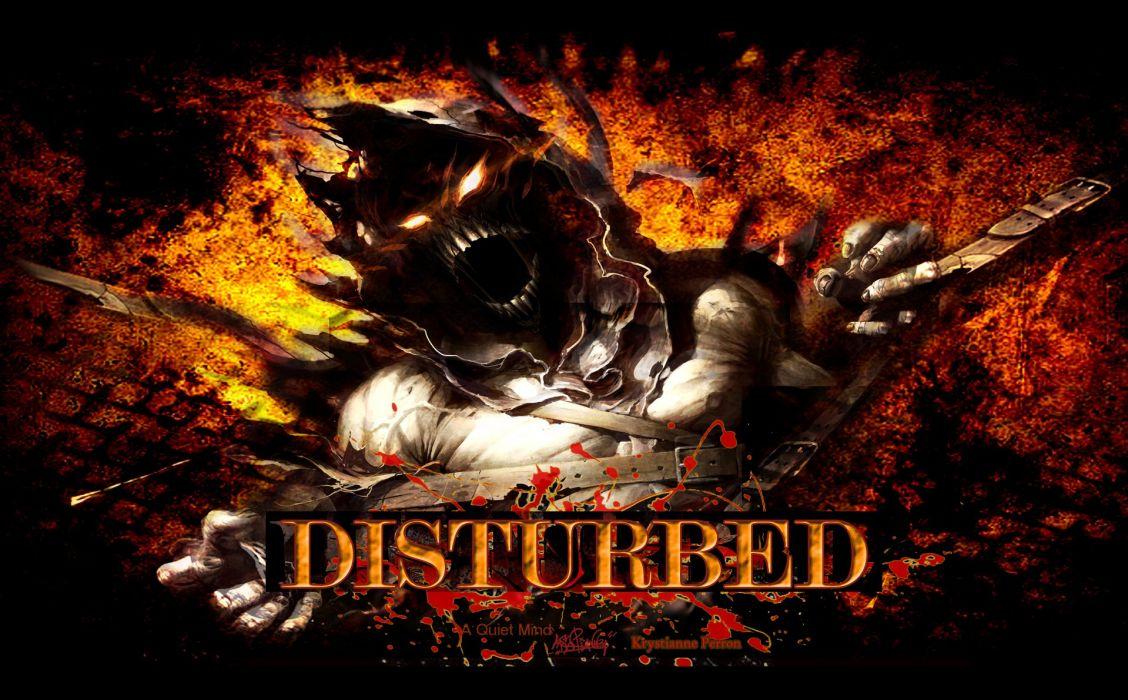 DISTURBED heavy metal alternative metal hard rock nu-metal dark demon reaper wallpaper
