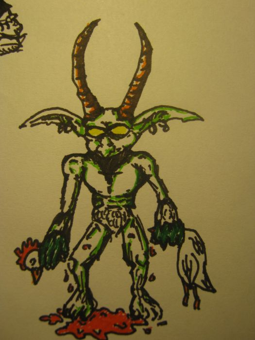 Little Sketch of the Warlock's Imp from World of Warcraft wallpaper